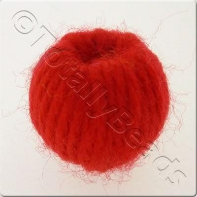 Wool Bead 22mm - Red