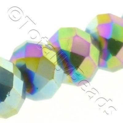 Crystal Rondelle 1014mm - Rainbow Plate