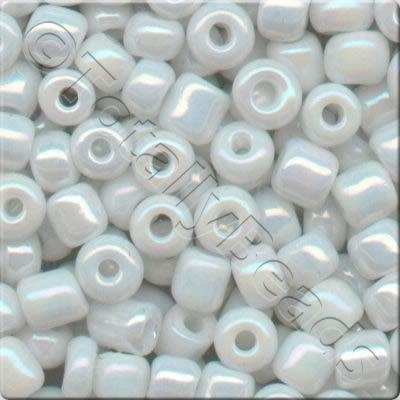 Seed Beads Opaque Rainbow  White - Size 11