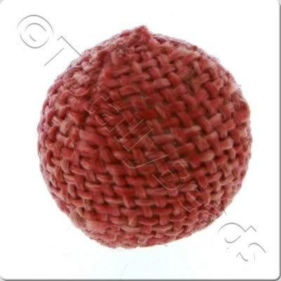 Weaved Hatch Bead - Light Red