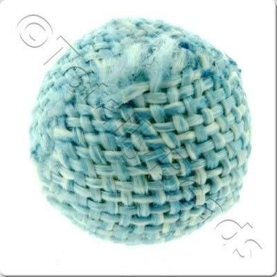 Weaved Hatch Bead - Blue