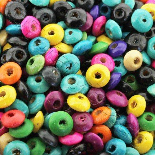 Wooden Beads Mixed Rondelle 8mm 150pcs