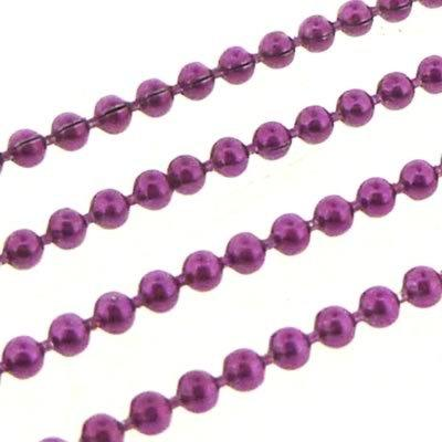 Ball Chain 1.5mm - Metallic Fuschia - 1m