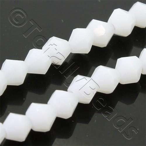 Crystal Bicone 4mm - Opaque White