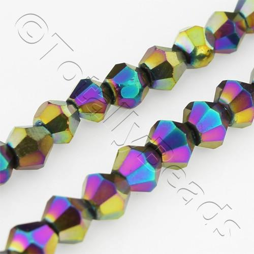 Crystal Bicone 4mm - Rainbow