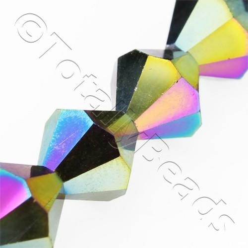 Crystal Bicone 10mm - Rainbow 30pcs