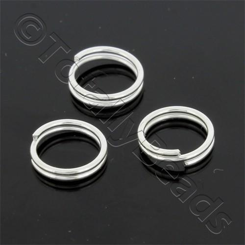 Split Rings 8mm - Silver Plated