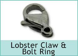 Lobster Claw & Bolt Ring Clasp