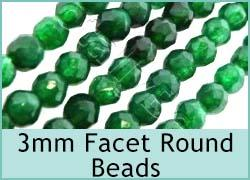 Gemstone 3mm Faceted Round