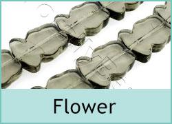 Glass Flower Beads