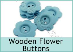 Wooden Flower Buttons