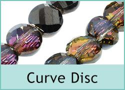 Crystal Curved Coin Beads