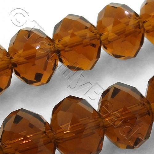 Crystal Rondelle 9x12mm - Brown