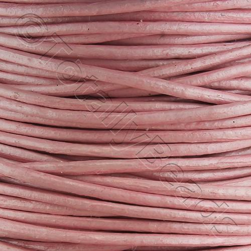 Leather Cord 1.5mm - Powder Pink 1m length