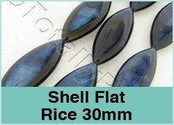 Shell Flat Rice 30mm