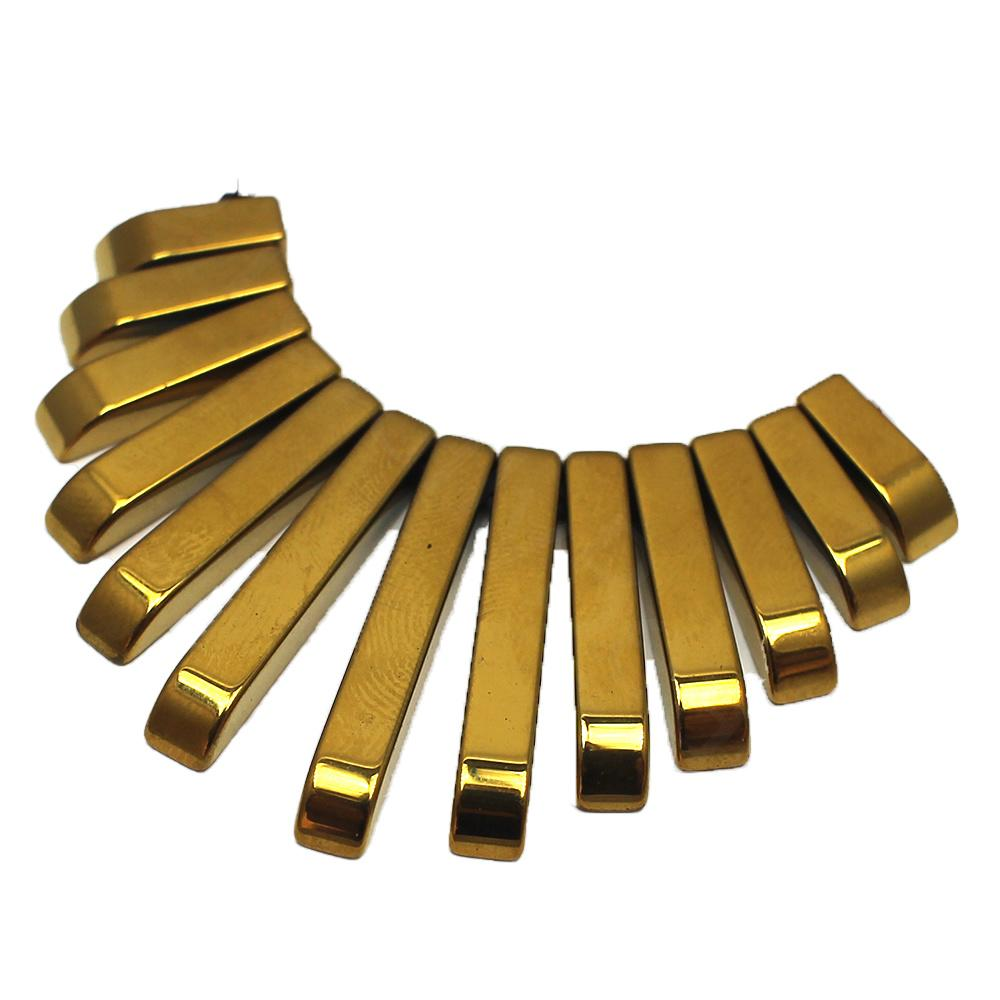 Hematite Egyptian Collar 13pc Gold Plated