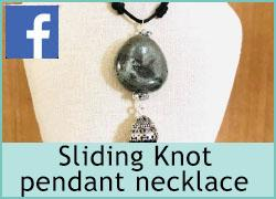 Sliding knot pendant necklace - 10th July