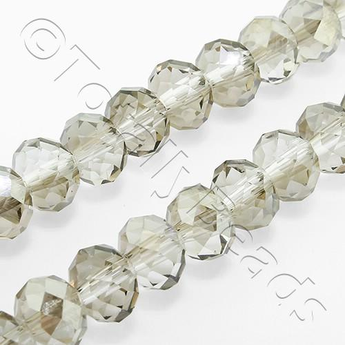 "Crystal Rondelle 6x8mm - Silver Dust 16"" String"