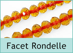 Faceted Glass Rondelle