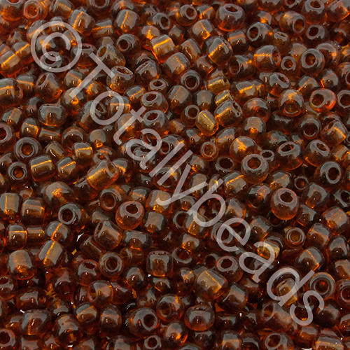 Seed Beads Transparent  Brown - Size 11