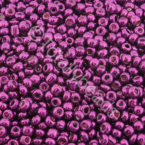 Seed Beads Metallic Plum - Size 8