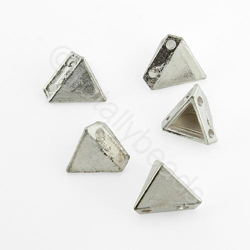 Silver Metal Bead - Tetrahedron 9mm 15pcs - H1239S
