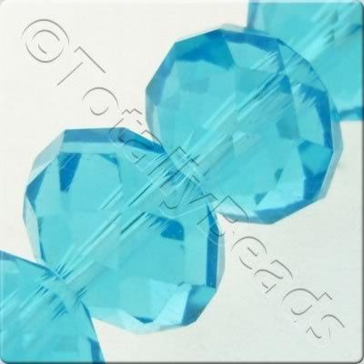Crystal Rondelle 10x14mm - Turquoise