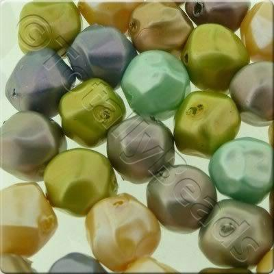 Acrylic Imitation Pearl - 10mm Odd Shape - Mix 1