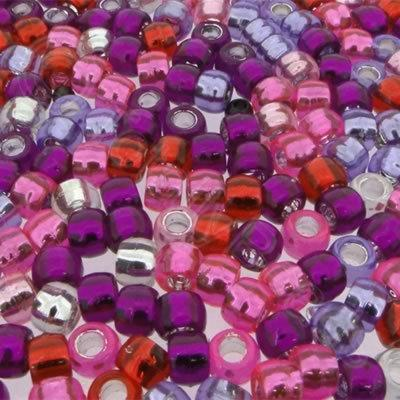 Pony Beads 9mm - Pink Mix