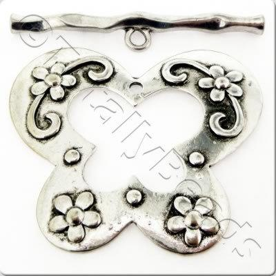 Tibetan Silver Toggle - Extra Large Butterfly