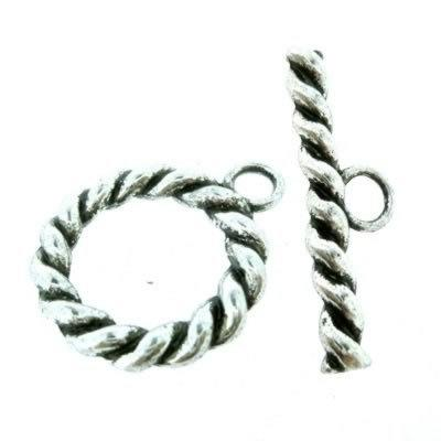 Tibetan Silver Toggle - Large Rope