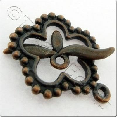 Tibetan Red Copper Toggle - Spotty Flower