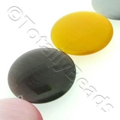Cats Eye Bead - Disc 50mm - Mixed