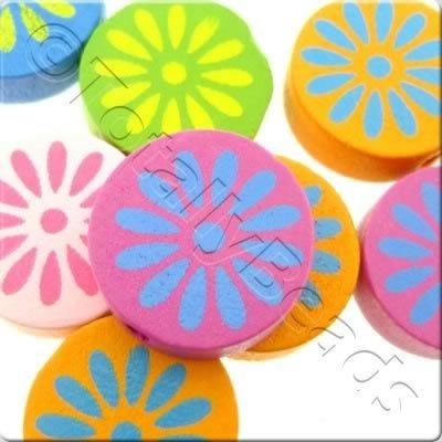 Childrens Wooden Bead - Flower Disc