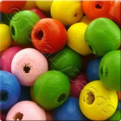 Childrens Wooden Bead - 7mm round