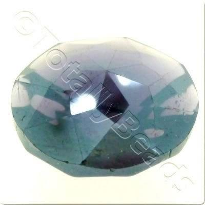 Crystal Button 20mm - Purple