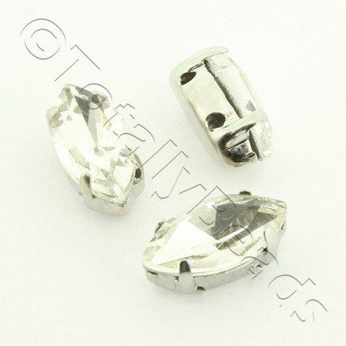 Sew on Crystal Rivoli 5x10mm Oval - Clear