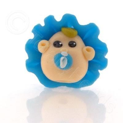 Fimo Doll Bead - Baby Blue Bonnet