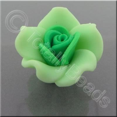 Fimo Flower Bead 20mm - Green