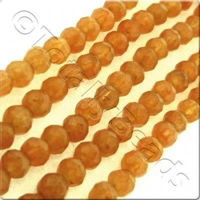 Red Aventurine 3mm Facet Round