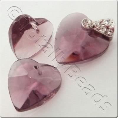 Glass Heart - Amethyst