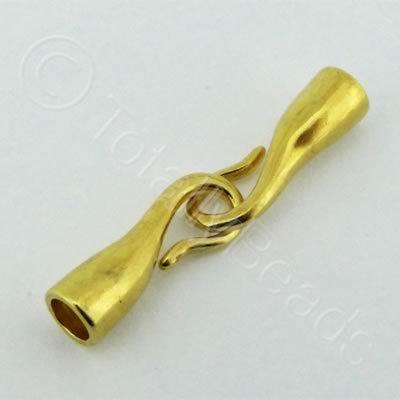 Kumihimo Gold Plate 2 Hook 4.5mm - 1 Set