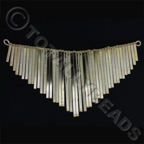 Graduated Fan - Flat Patterned Gold 14cm