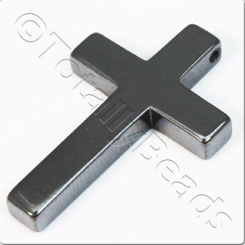 Hematite - Simple Cross 33mm