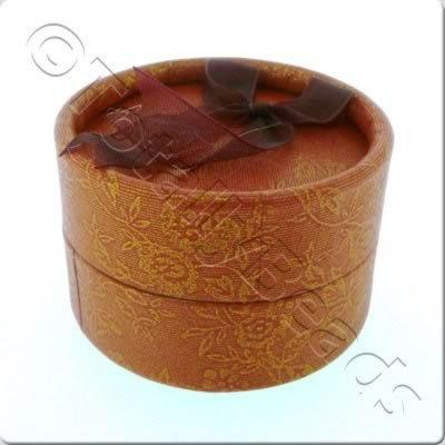 Jewellery Gift Box - Small Round - Red Flower