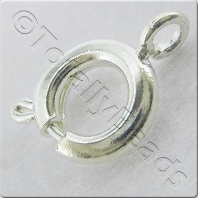 Bolt Ring 7mm - Silver Plated - 10 pieces