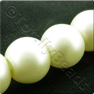 Glass Pearl Round Matt Finish - Ivory