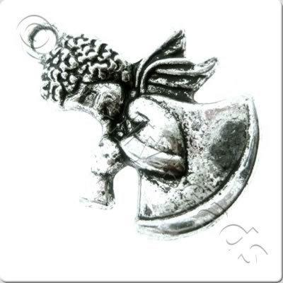 Tibetan Silver Charm - Angel 26mm