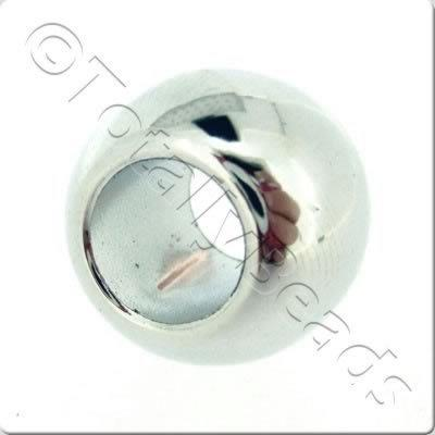 Acrylic Large Hole - Silver Bead