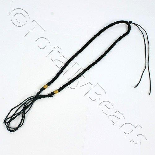 Nylon Necklace Braid - Black